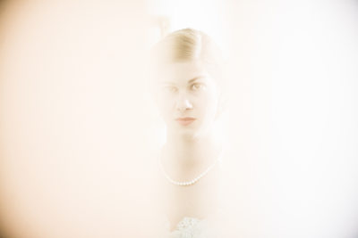 Bride Peeks Through Church Door, Main Street UMC Church