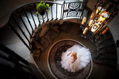 Graylyn Stairwell Bridal Session, Winston-Salem, NC