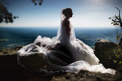 Pilot Mountain Bridal Portrait, Winston-Salem, NC