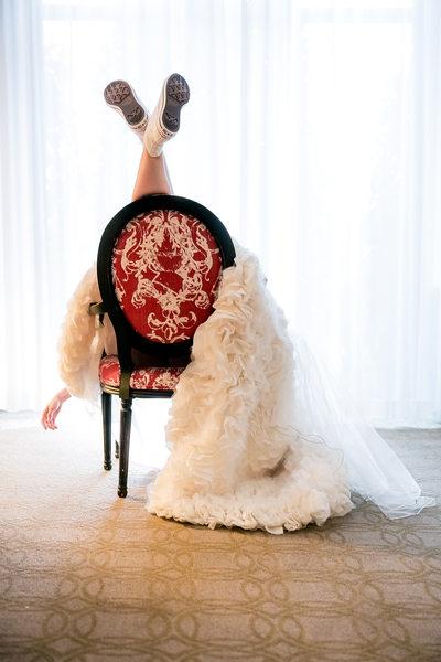Proximity Hotel Bridal Session Converse & Ruffled Dress