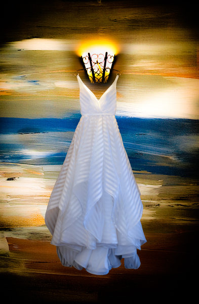 Wedding Dress Detail, Terranea, Palos Verdes, CAq