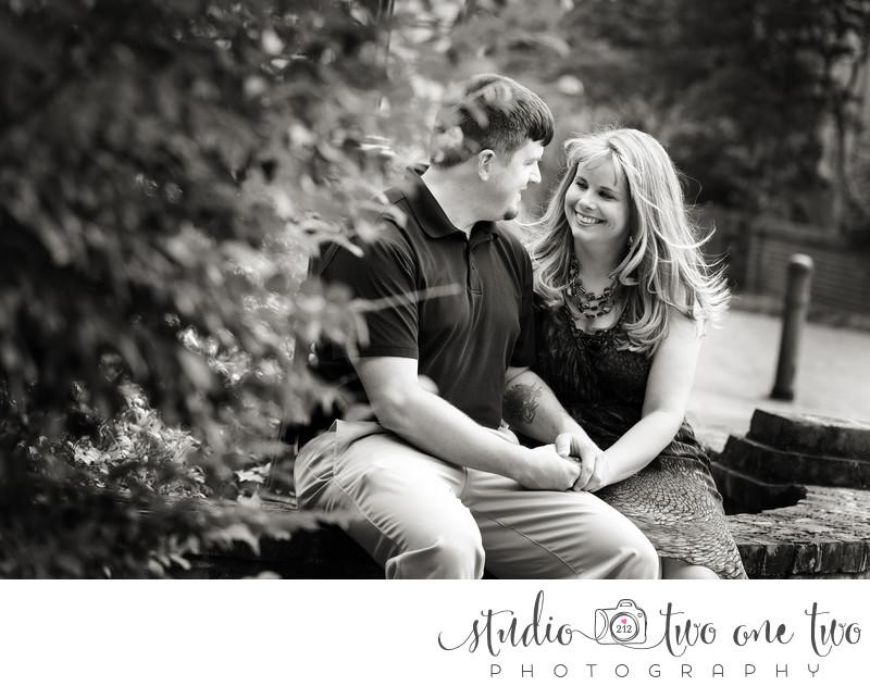 Engagement Photo on USC Horseshoe in Columbia, SC