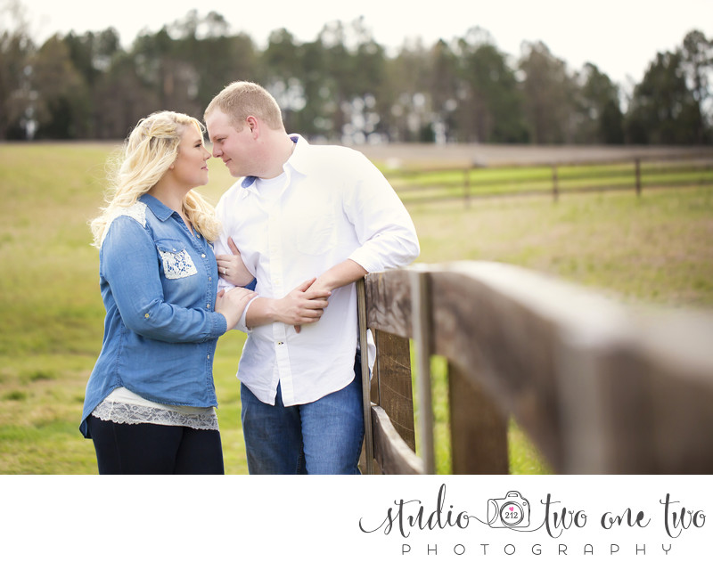 Engagement session at Farm at Ridgeway