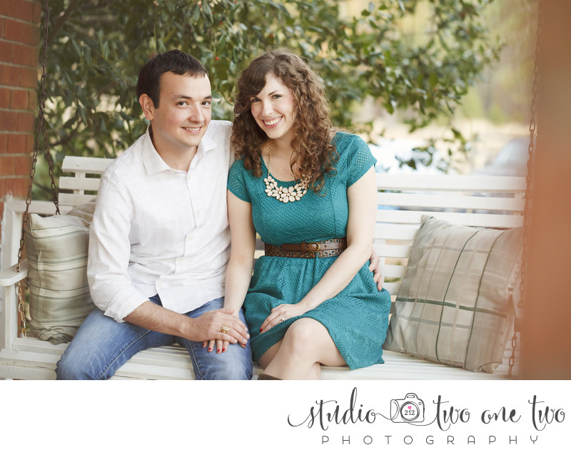 Outdoor engagement sessions in SC