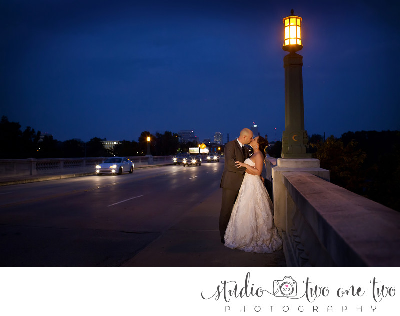 Gervais Street Bridge Wedding Photo