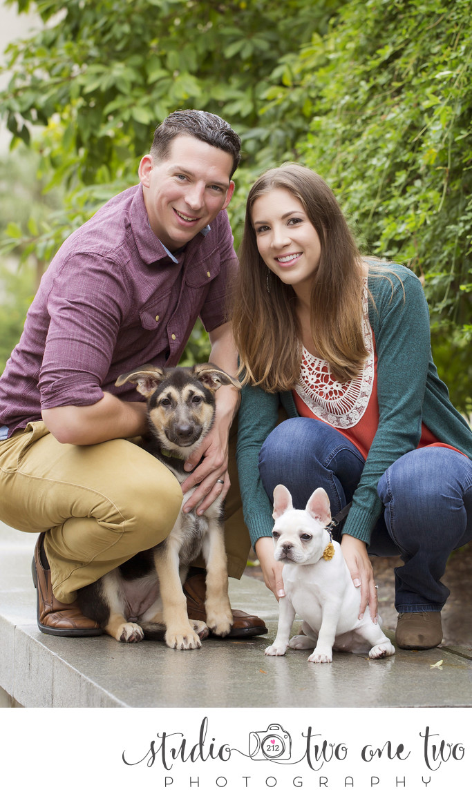 engagement photos with pets in Columbia SC