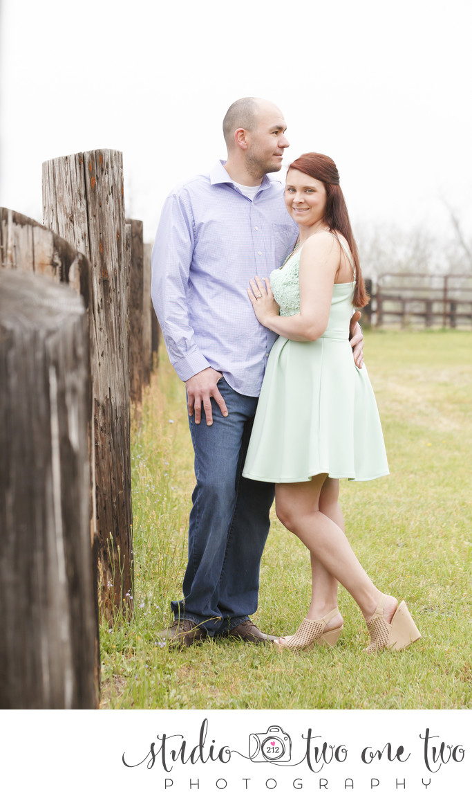 Engagement photo on SC farm