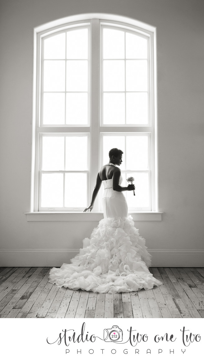 Bridal portrait at 701 Whaley