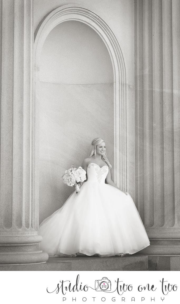 SC Statehouse Bridal Portrait