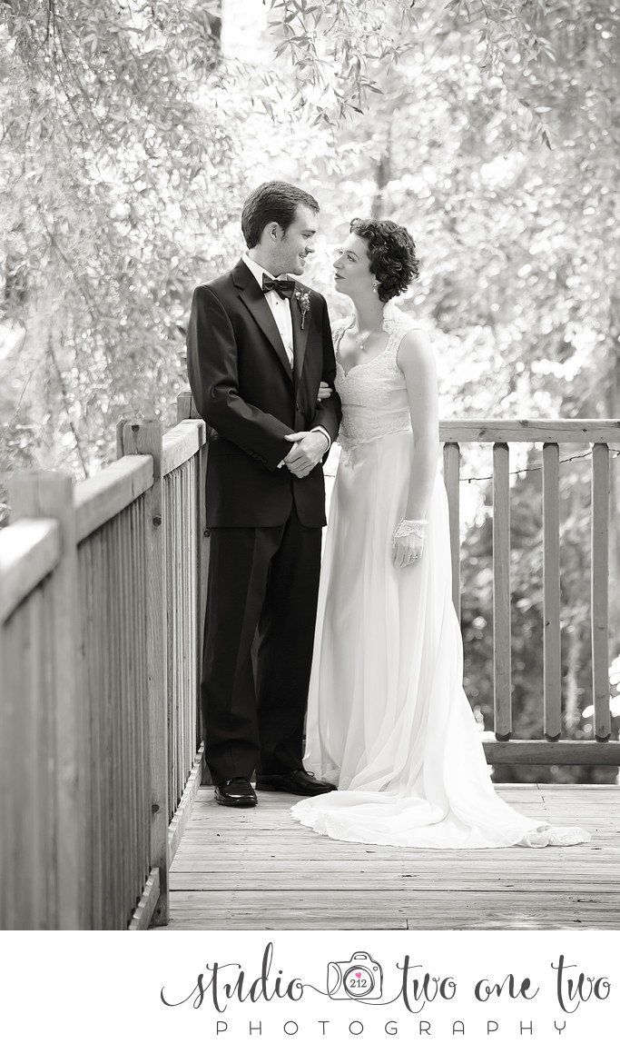 Black and White Wedding Photography SC