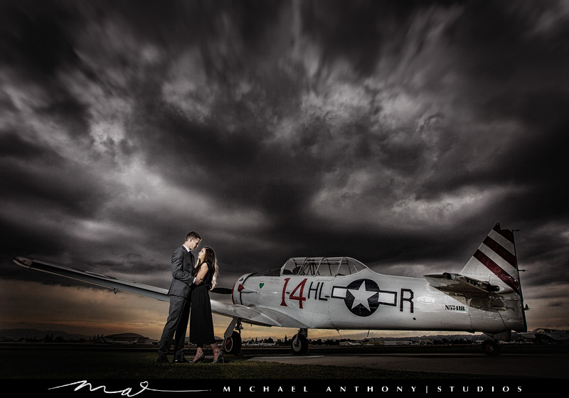 An Airport Engagement Session in Van Nuys
