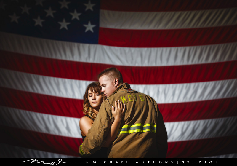 Firefighter Engagement Photos in Los Angeles