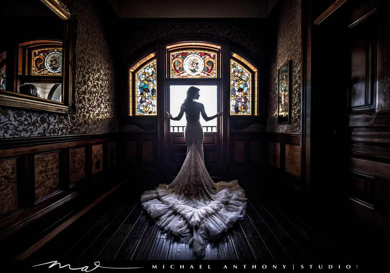 Newhall Mansion Wedding Pictures Stained Glass