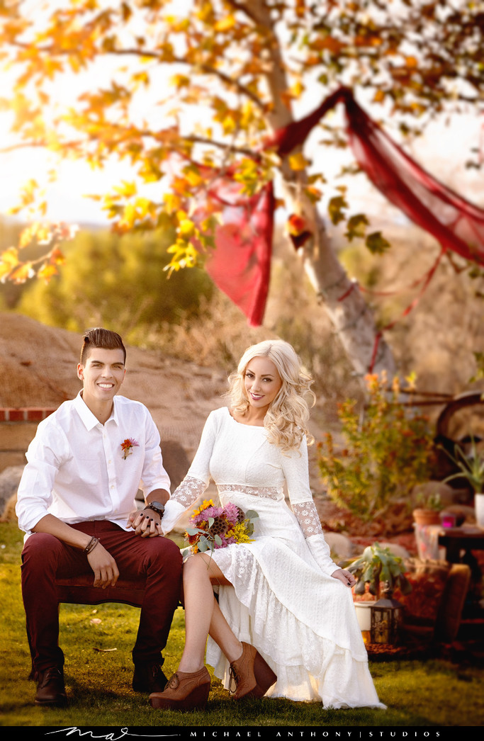 A Bohemian Themed Engagement Session
