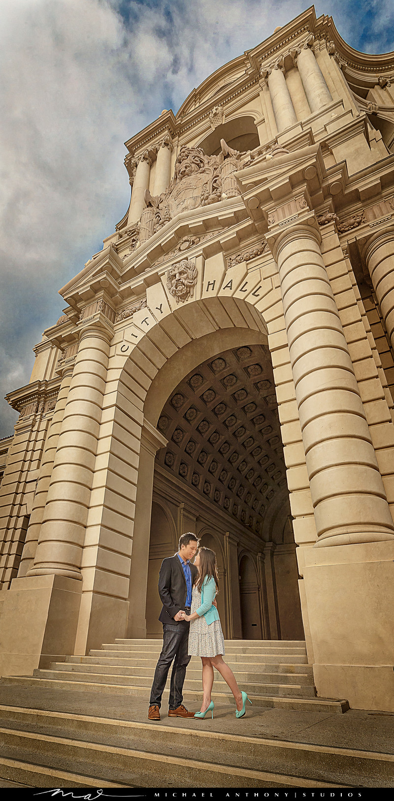 Engagement Photos at Pasadena City Hall