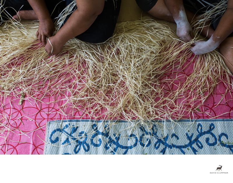 Tongan Women Weave Mats