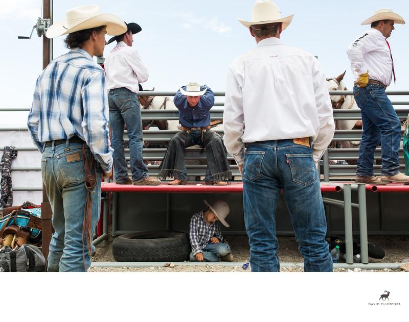 Saddle Bronc Rider Stretching