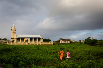 Girls Going to Church in Nomuka Tonga