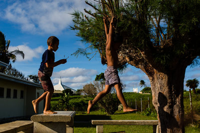 Tongan Boys Playing After School