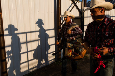 Plains Montana Rodeo Cowboy Shadows