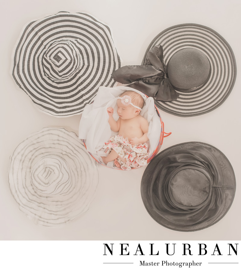 buffalo baby photography by neal and danielle urban with hats