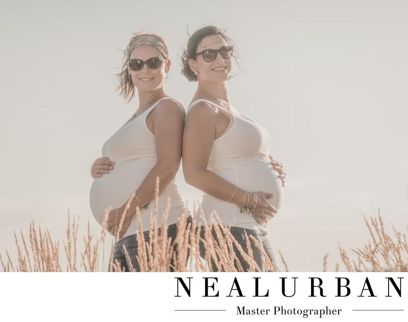 buffalo maternity photography ideas family sister twins