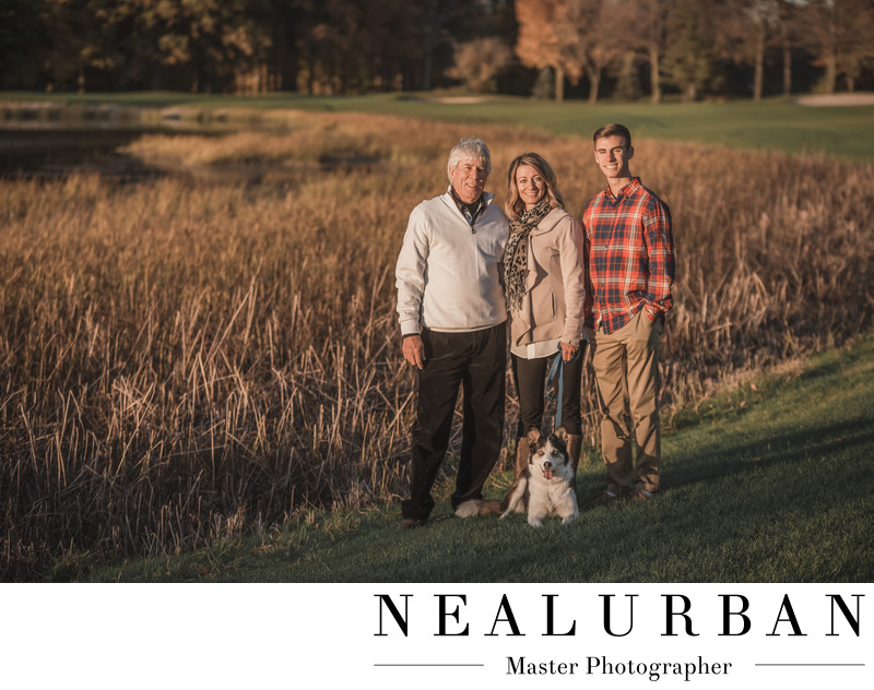 niagara frontier family portrait photography golf course