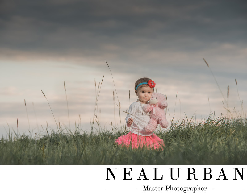 buffalo family photography little girl tall grass knox