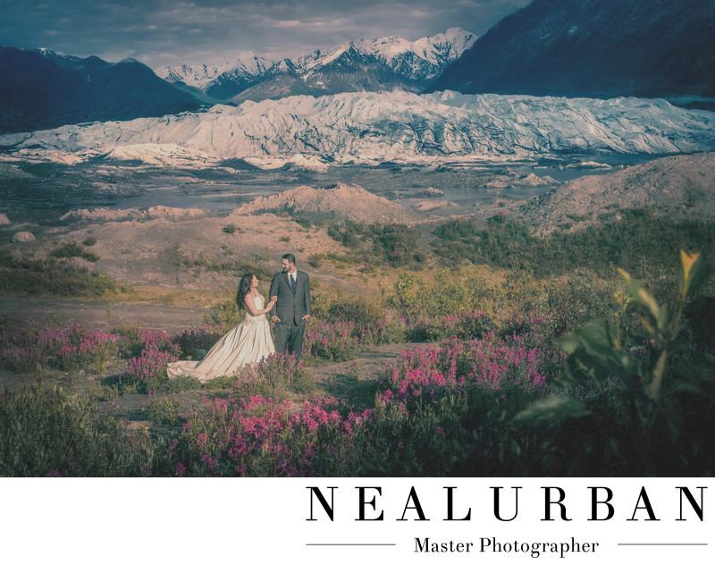 alaska wedding photographer Matanuska Glacier bride groom