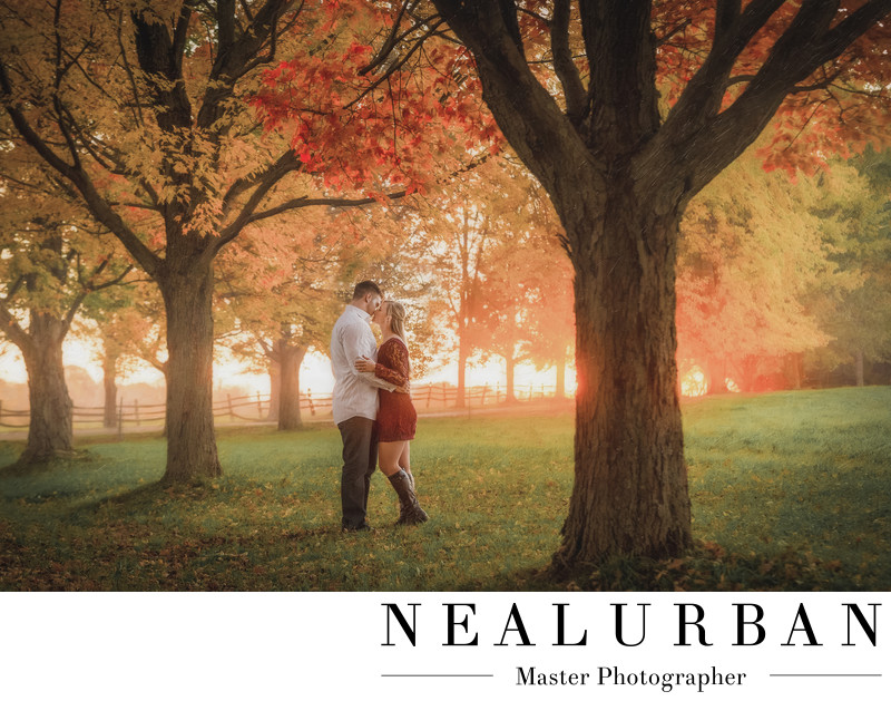 best buffalo engagement photographers knox farm fall sunset