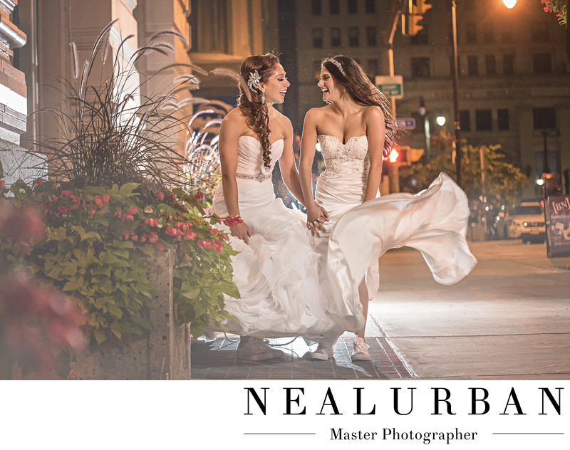 buffalo gay wedding photography hotel lafayette brides