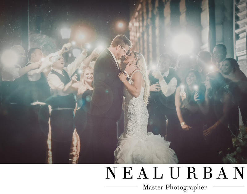 best buffalo wedding photographers at hotel lafayette at night