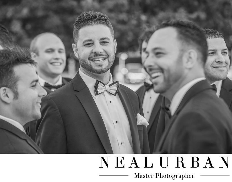 buffalo groomsmen photography ideas tuxedo bowtie