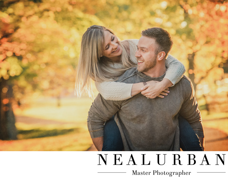 buffalo engagement photography in the fall at knox farm
