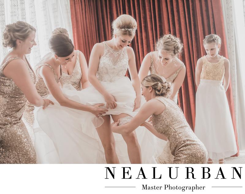 buffalo wedding reception at the delevan hotel bridal suite