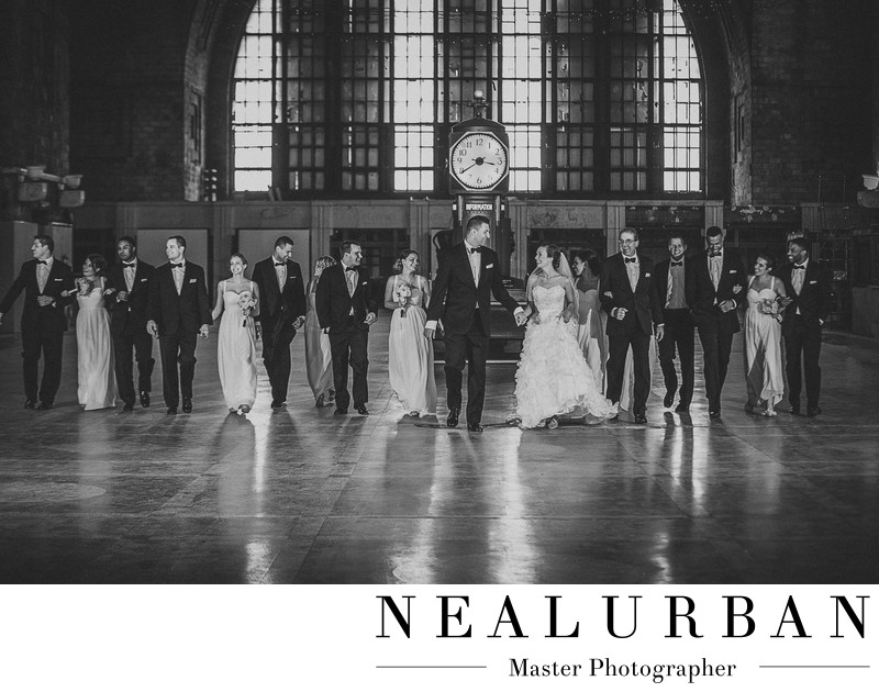 buffalo central terminal wedding bridal party photography
