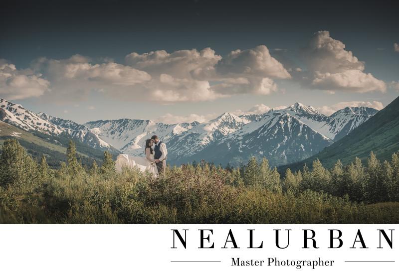 Anchorage alaska wedding photographers seward mountains