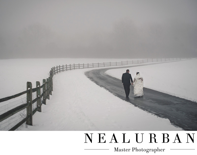 buffalo winter weddings photography knox farm fog road