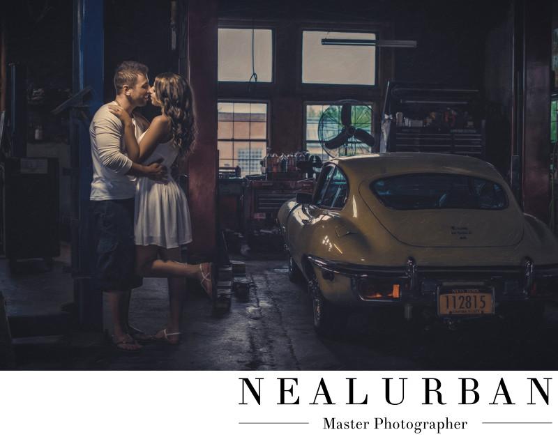 buffalo engagement vintage car idea garage lewiston ny