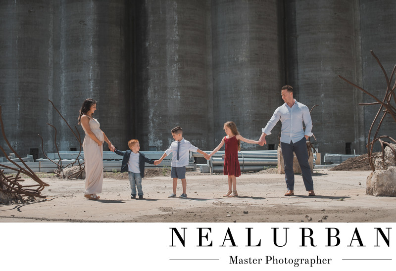 buffalo riverworks family photography location silos