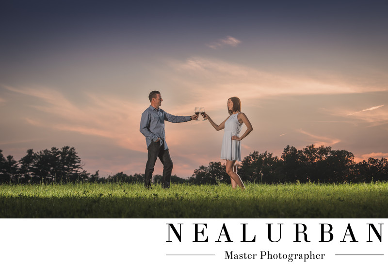 buffalo winery wedding napa stags leap theme sunset
