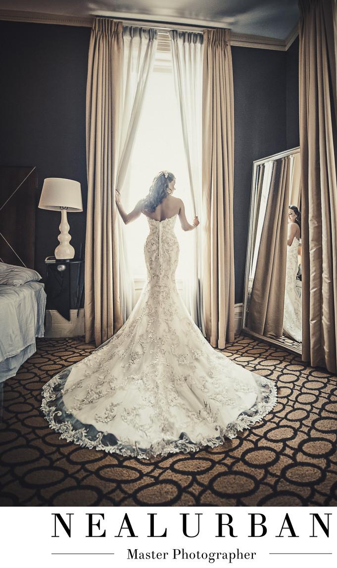 delaware mansion bridal suite wedding bride window