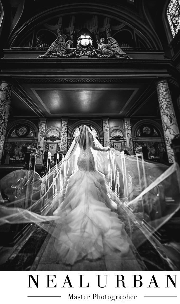 best italy basilica buffalo ny bridal portrait veil