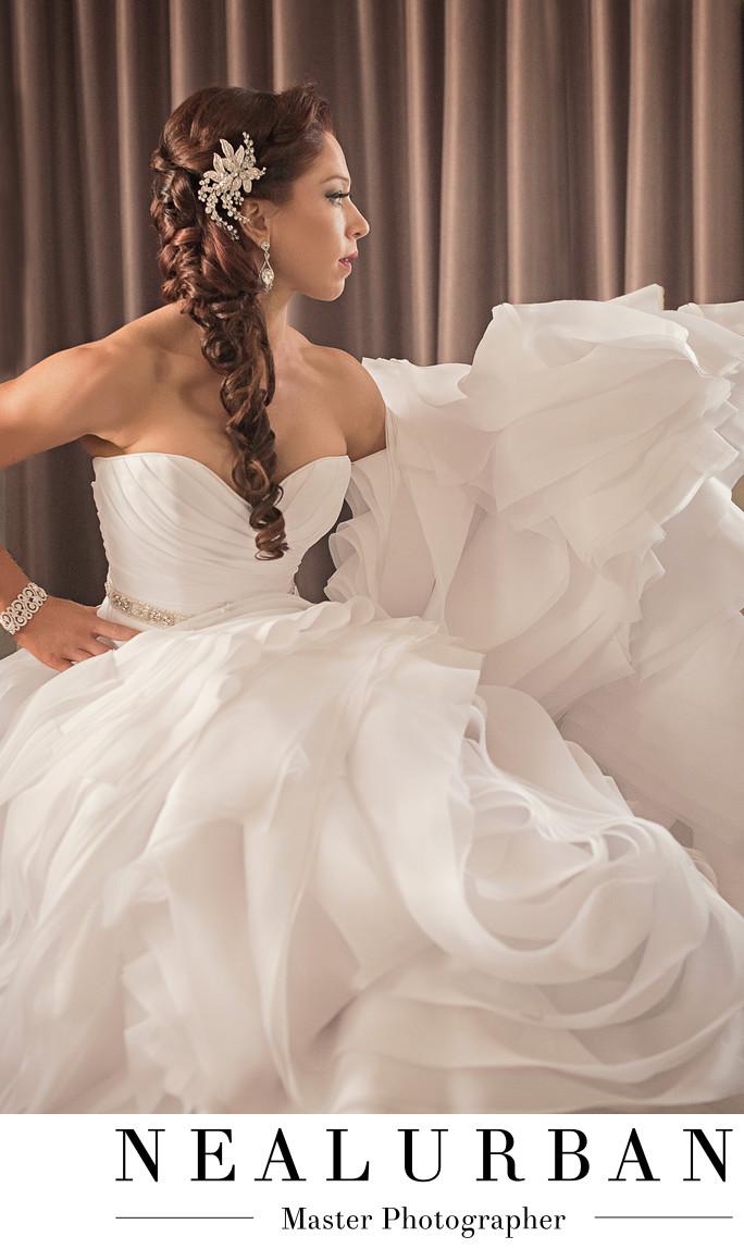 Buffalo wedding bride at hotel lafayette fashion dress