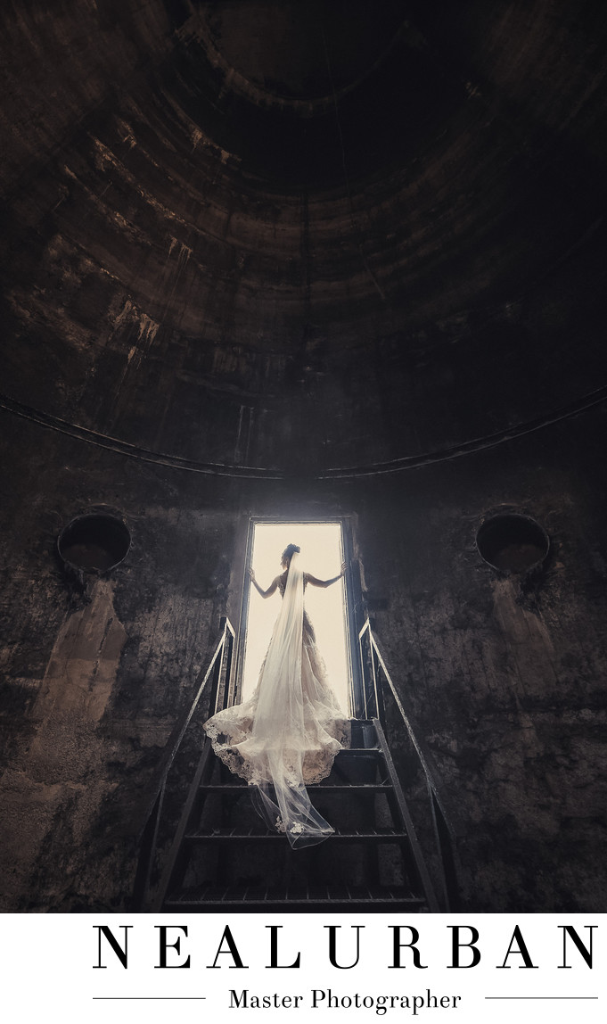 buffalo wedding silo city rustic photography wedding dress
