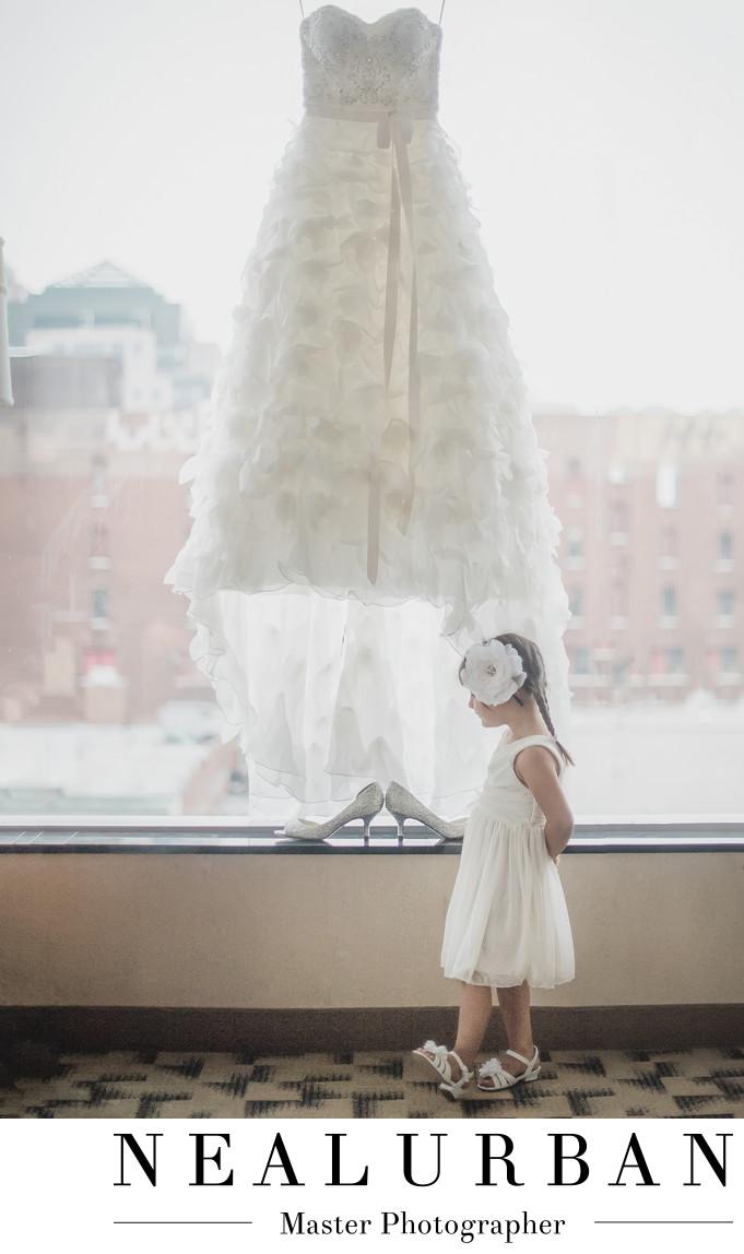 buffalo wedding photography flower girl wedding dress