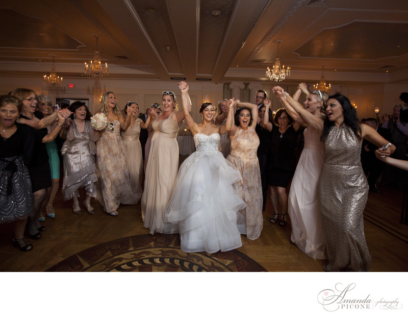 Wedding guests dance at reception The Carltun Long Island
