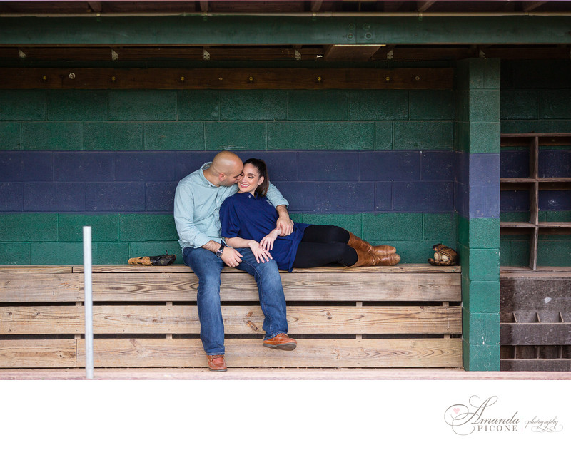 Baseball Engagement Photos in New Jersey