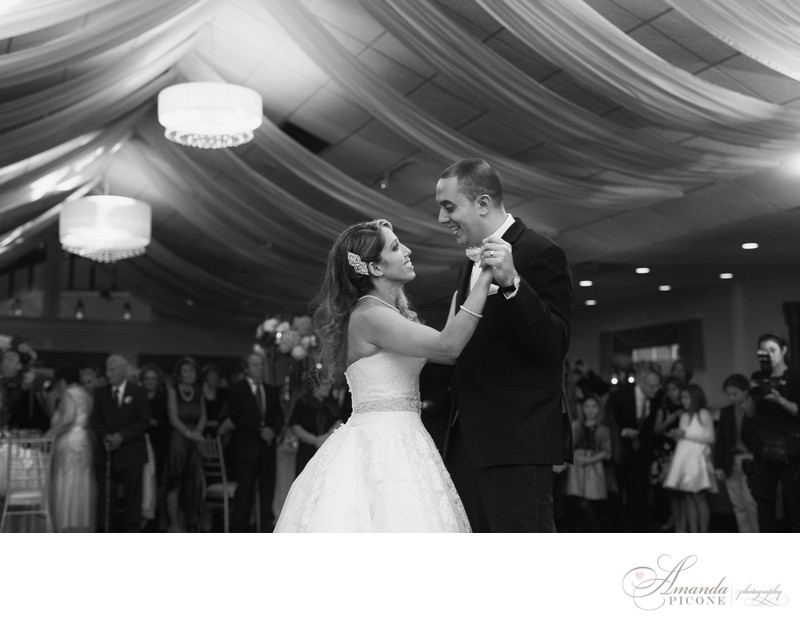 Bride and groom first dance Flowerfield Long Island