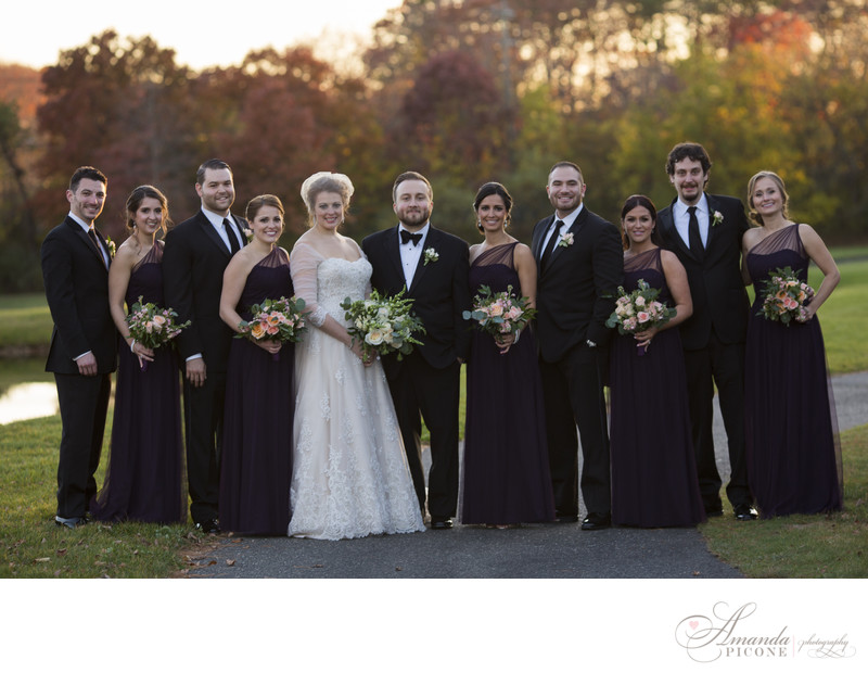 Wedding party at sunset Long Island New York